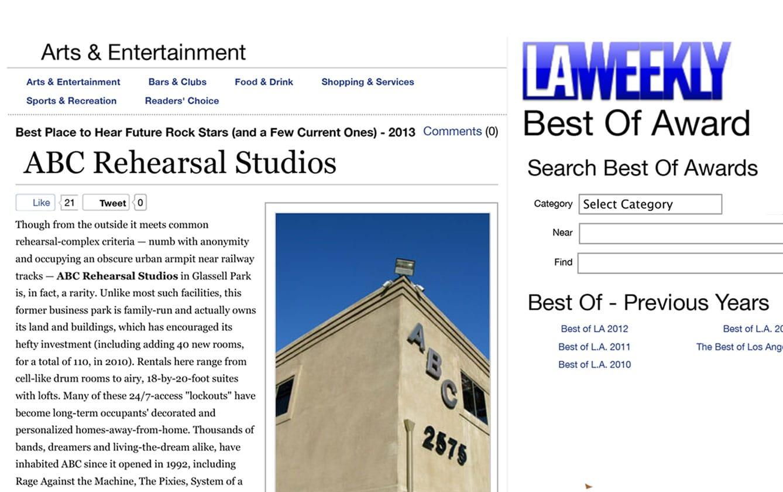 © ABC Rehearsal Studios   Silver Lake and Hollywood   Lawrence Media Interactive