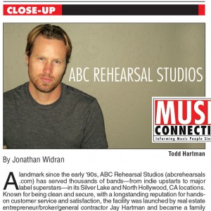 © ABC Rehearsal Studios | Rehersal Rooms | Silver Lake and Hollywood | Lawrence Media Interactive